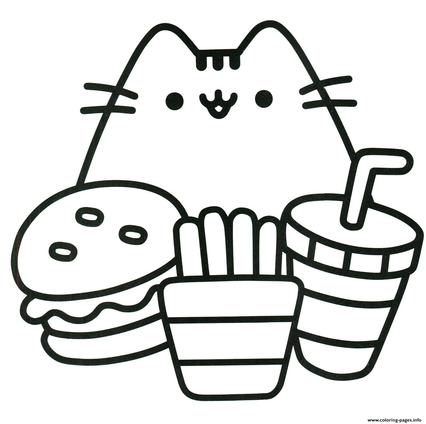 22 Awesome Image Of Food Coloring Pages Pusheen Coloring Pages