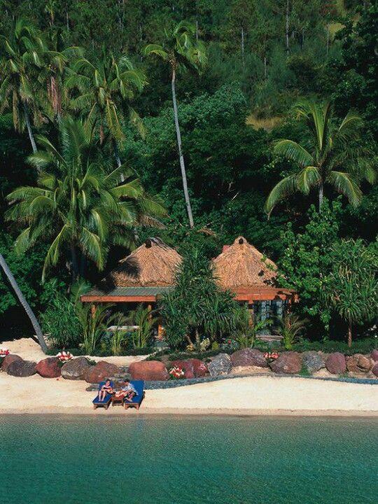 Beachfront Bures at Qamea Resort & Spa, Fiji