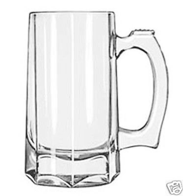 Libbey Glass 12 ounce Beer Stein Mug 12 piece / 1 case