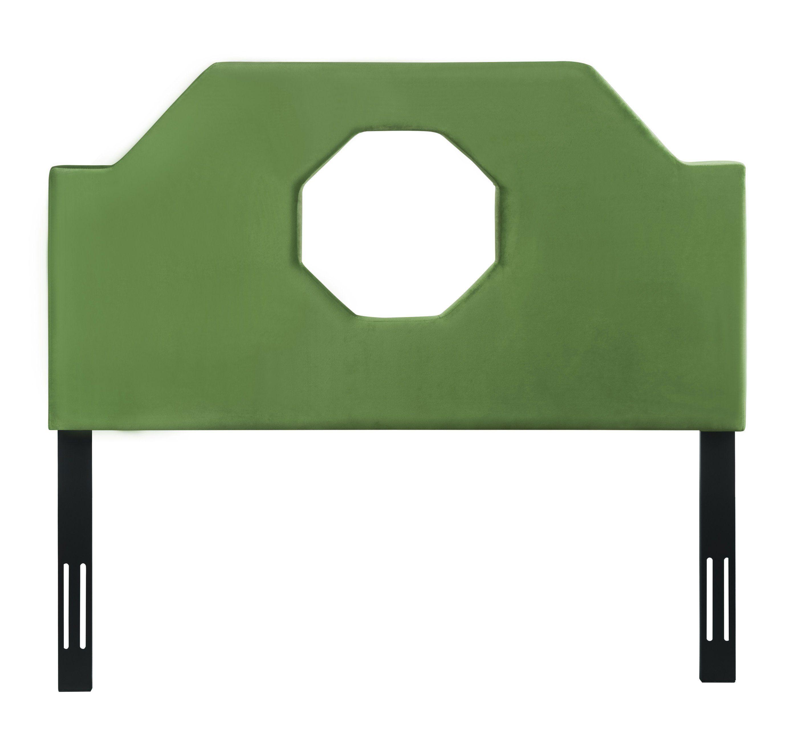 Noctis King Headboard in Green Velvet