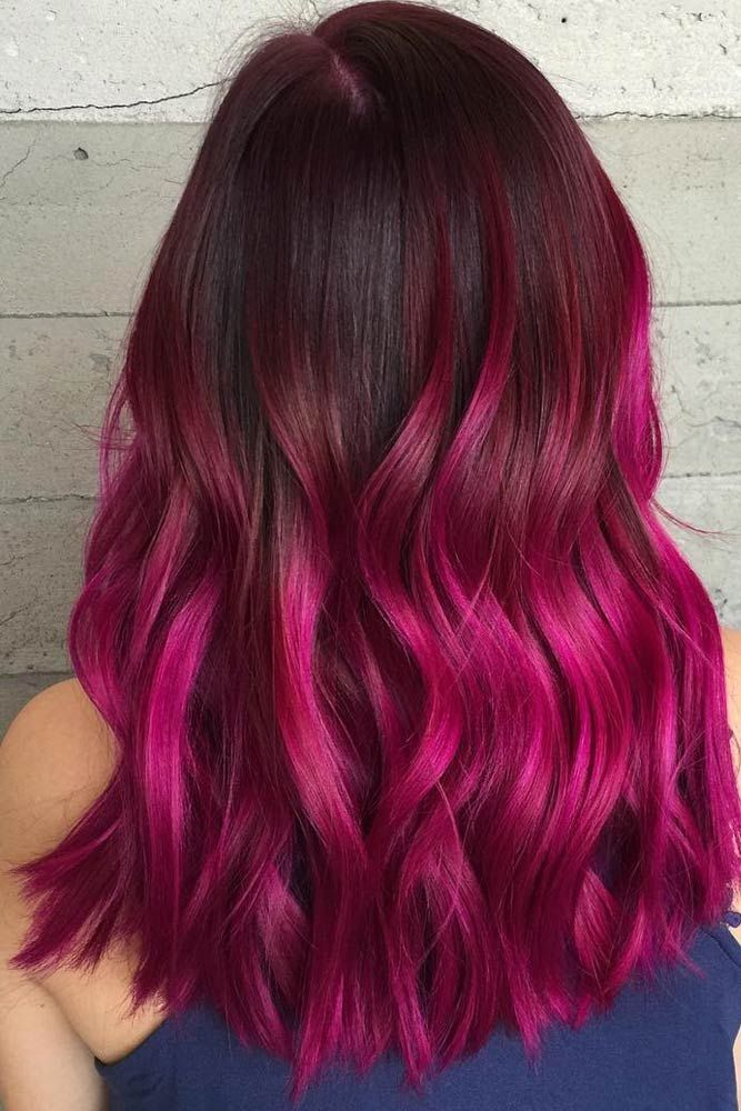 Loving The Hot Pink Purple Ombre Hair Magenta Hair Hair Styles