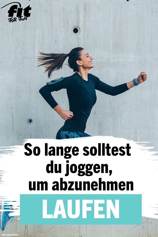 Routine laufen, um Gewicht zu verlieren