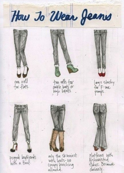 What shoes to pair with what jeans, and different styles for different body types!