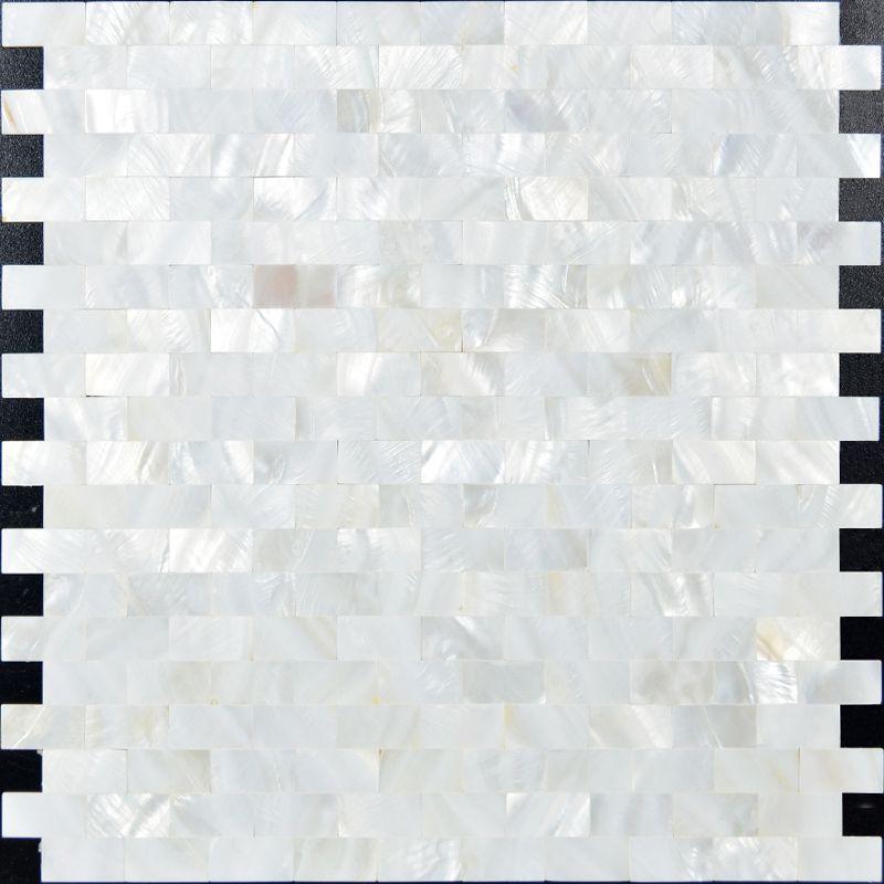 White Mother Of Pearl Shell Tiles Mosaic Sheets Subway Tile Backsplash For Kitchen Walls Seashell Mirrors Bathrooms