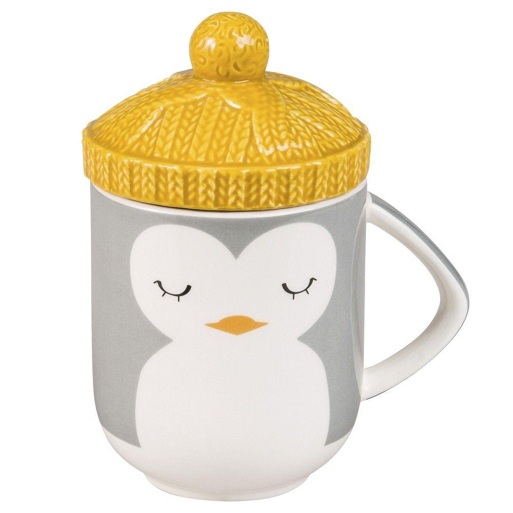 mug chapeau pingouin maisons du