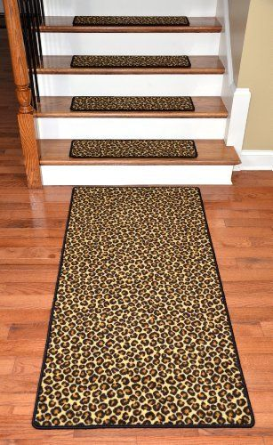 Best Premium Carpet Stair Treads Leopard 30 X 9 Plus A 400 x 300