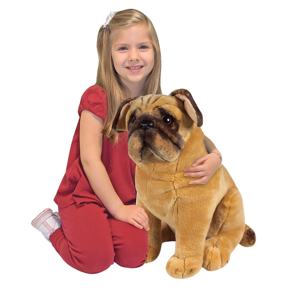 Melissa Doug Pug Dog Lifelike Stuffed Animal Pugs Dog Toys