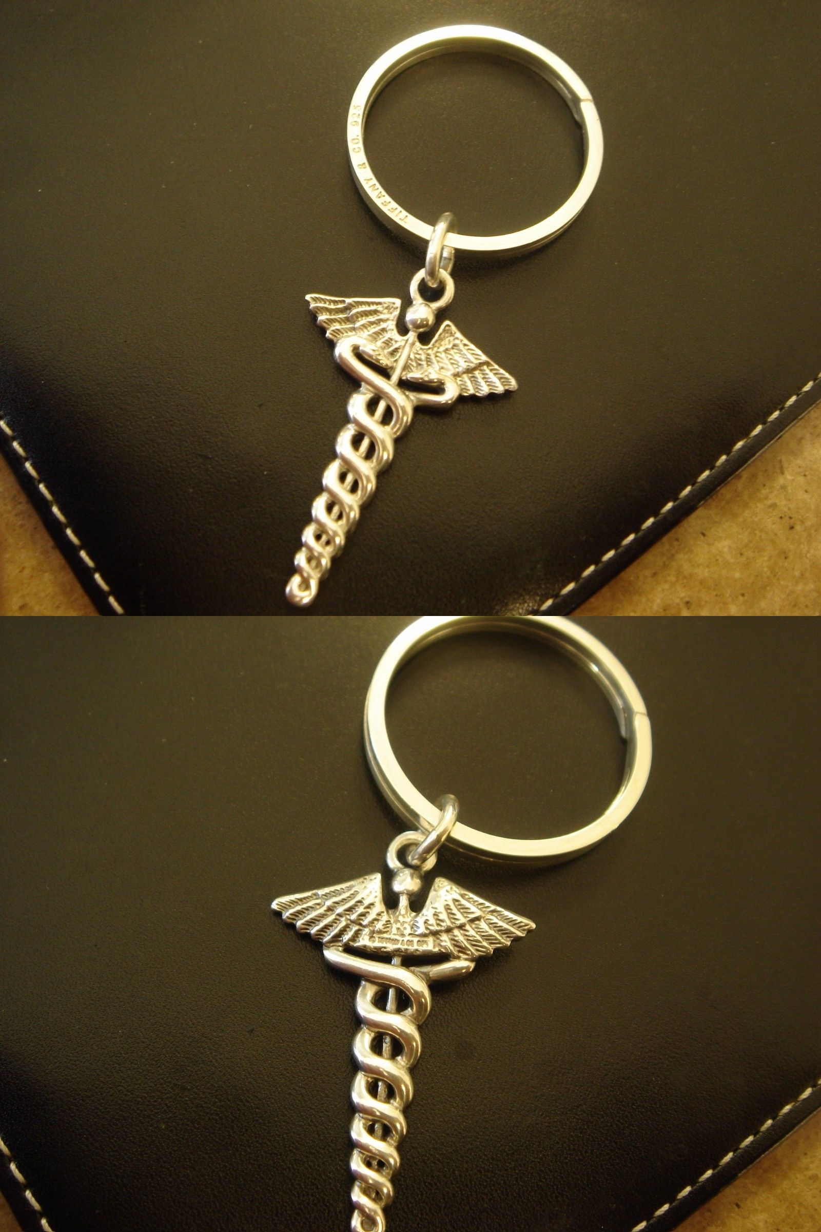 ab9501973 Other Fine Jewelry 505: Tiffany And Co. Sterling Silver Medical Doctor  Caduceus Key Chain Keychain Ring -> BUY IT NOW ONLY: $215 on eBay!