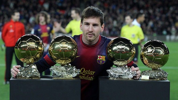 2a1499439b6 Lionel Messi on his 4th consecutive FIFA Ballon D or.