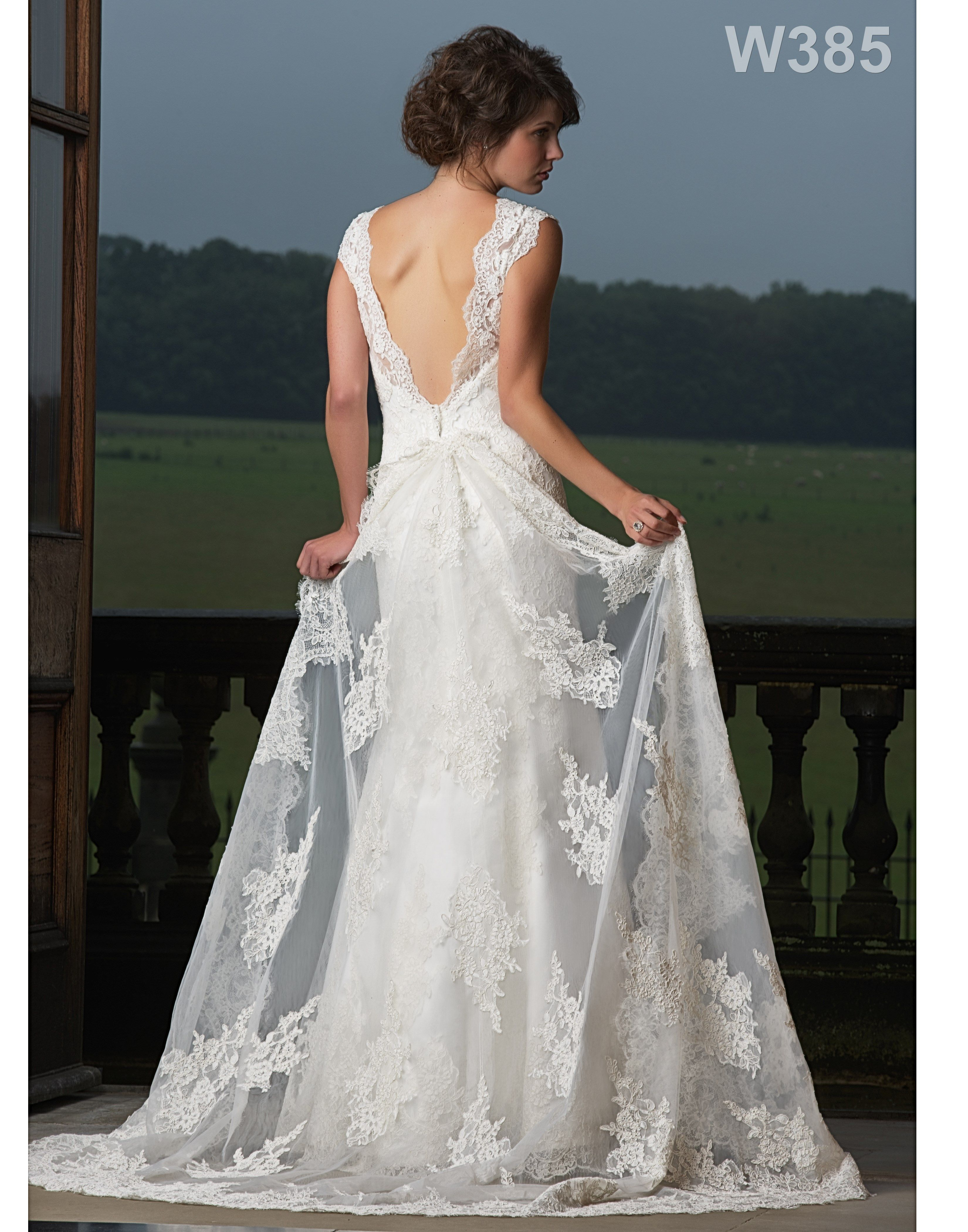 Style W385 #AlexiaDesigns #LaceBridalDress #WeddingDress www.alexiadesigns.com Love lace - always so elegant.