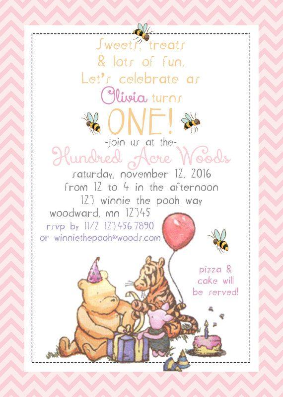 birthday invitations boy winnie