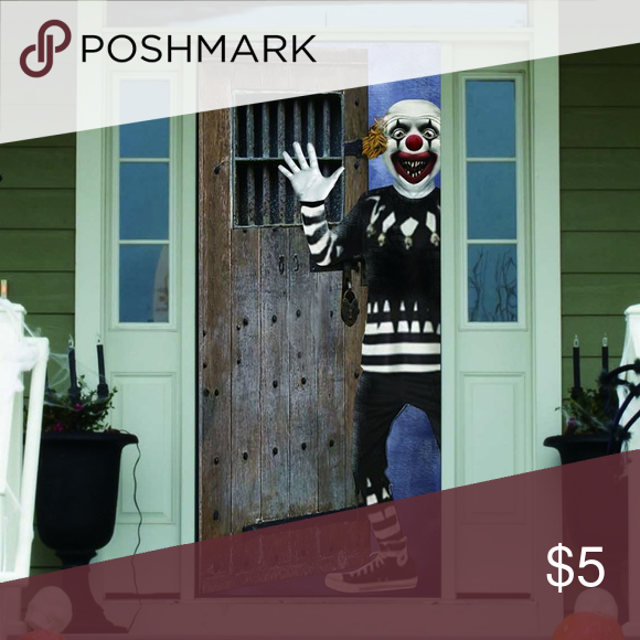 Halloween Creepy Clown 30 X 72 Door Cover New Nwt In 2020 Creepy Clown Creepy Colorful Decor