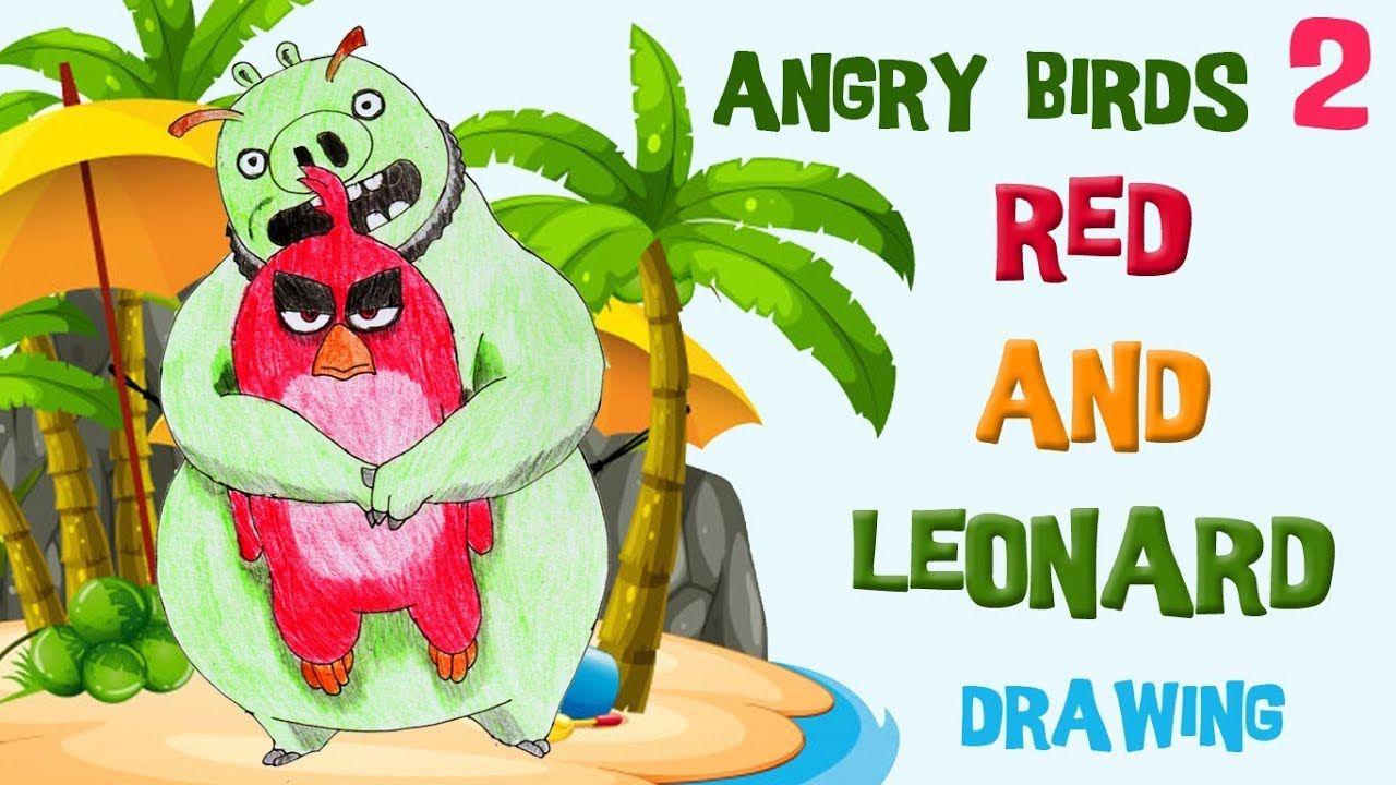 Red Dan Leonard Di Pantai Menggambar Dan Mewarnai Angry Bird