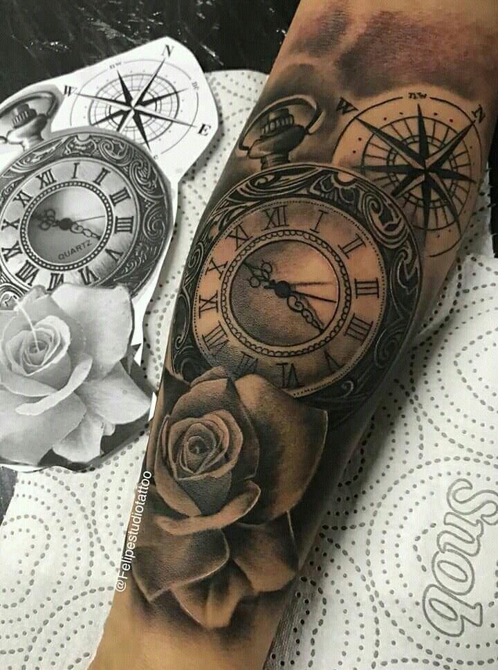 Un Reloj Tatuado Da Muchas Interpretaciones El Tiempo Pasa Rapido Y Hay Que Apro Tatuaje Media Manga Hombre Tatuaje Reloj De Bolsillo Tatuaje Reloj Y Rosa