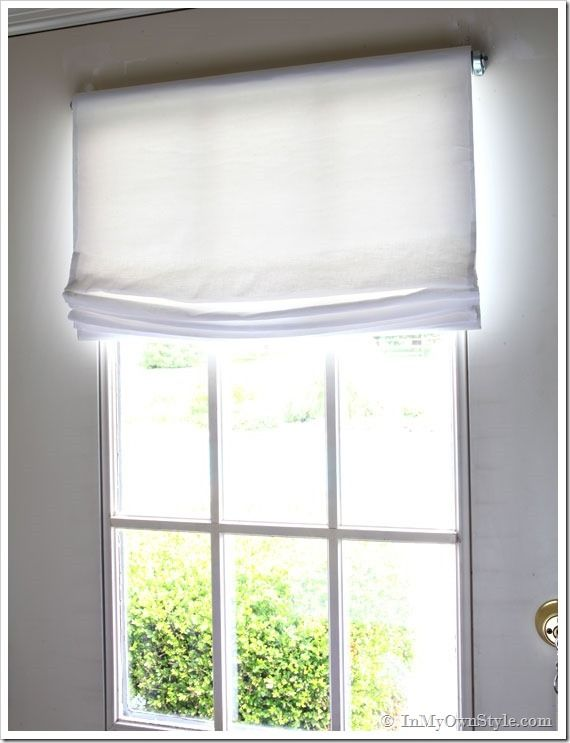 Easy NoSew Window Treatments Relaxed roman shade Window and Roman