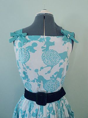 Another lovely inspiration...the print?  POODLES! Simplicity 3961. She did a great job!