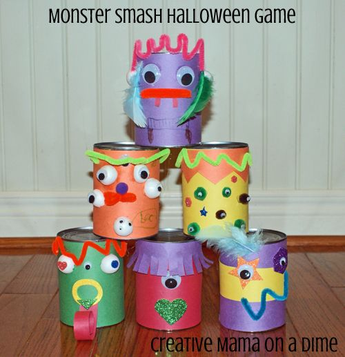 Monster Smash Halloween Game for Kids You could also wrap rolls of - kid halloween party ideas