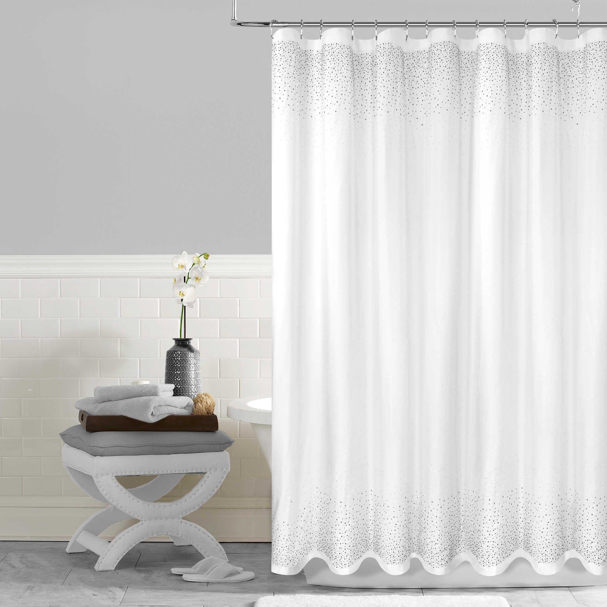 Twilight 54 Inch X 78 Shower Curtain In White