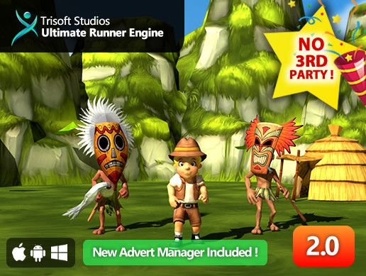 Ultimate Runner Engine™ is a 3D Endless Runner style complete game