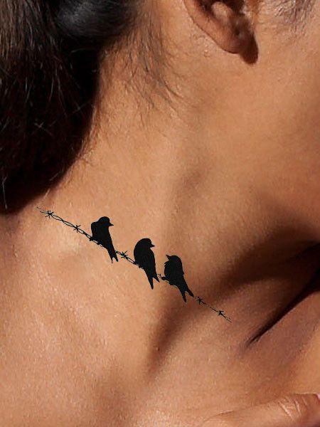 Bird On A Wire Tattoo : tattoo, Birds, Three, Tattoo,, Pattern, Tattoo