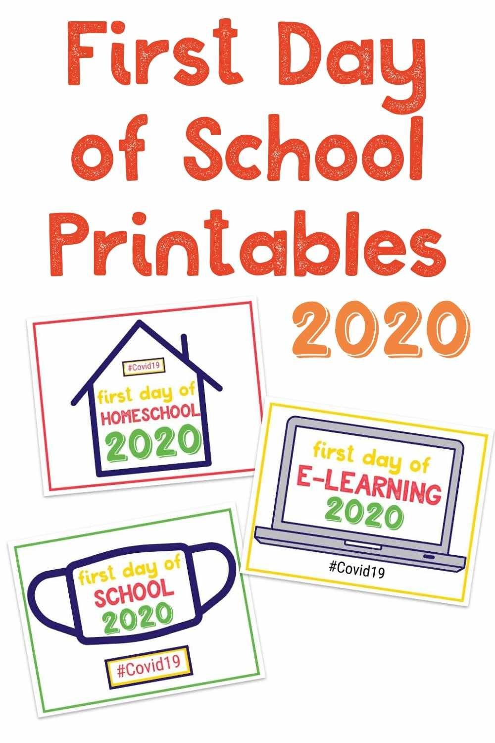 First Day Of School 2020 Printable Signs School Signs First Day Of School Free School Printables [ 1500 x 1000 Pixel ]