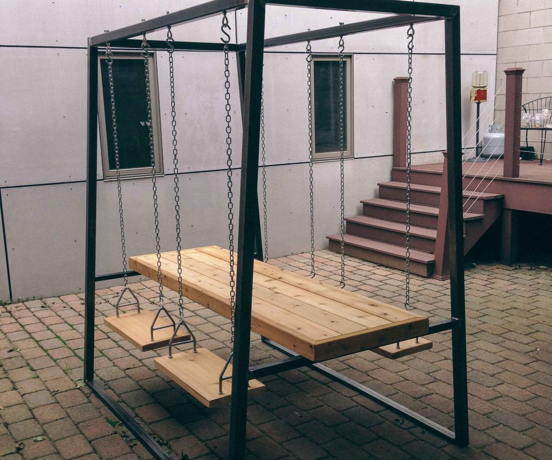 Swingset Table This Is Actually Very Practical For My Backyard I Definitely Need Really Do