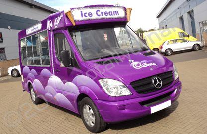 Mercedes Sprinter Ice Cream Van With Printed Wrap Cadbury