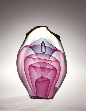 Sculpture by Dominick Labino, 1975. | Corning Museum of Glass #glass #Contemporary #sculpture
