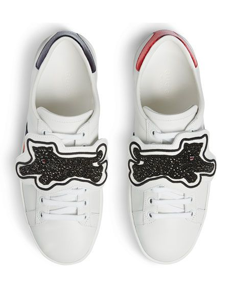 Gucci New Ace Panther Low-Top Sneaker
