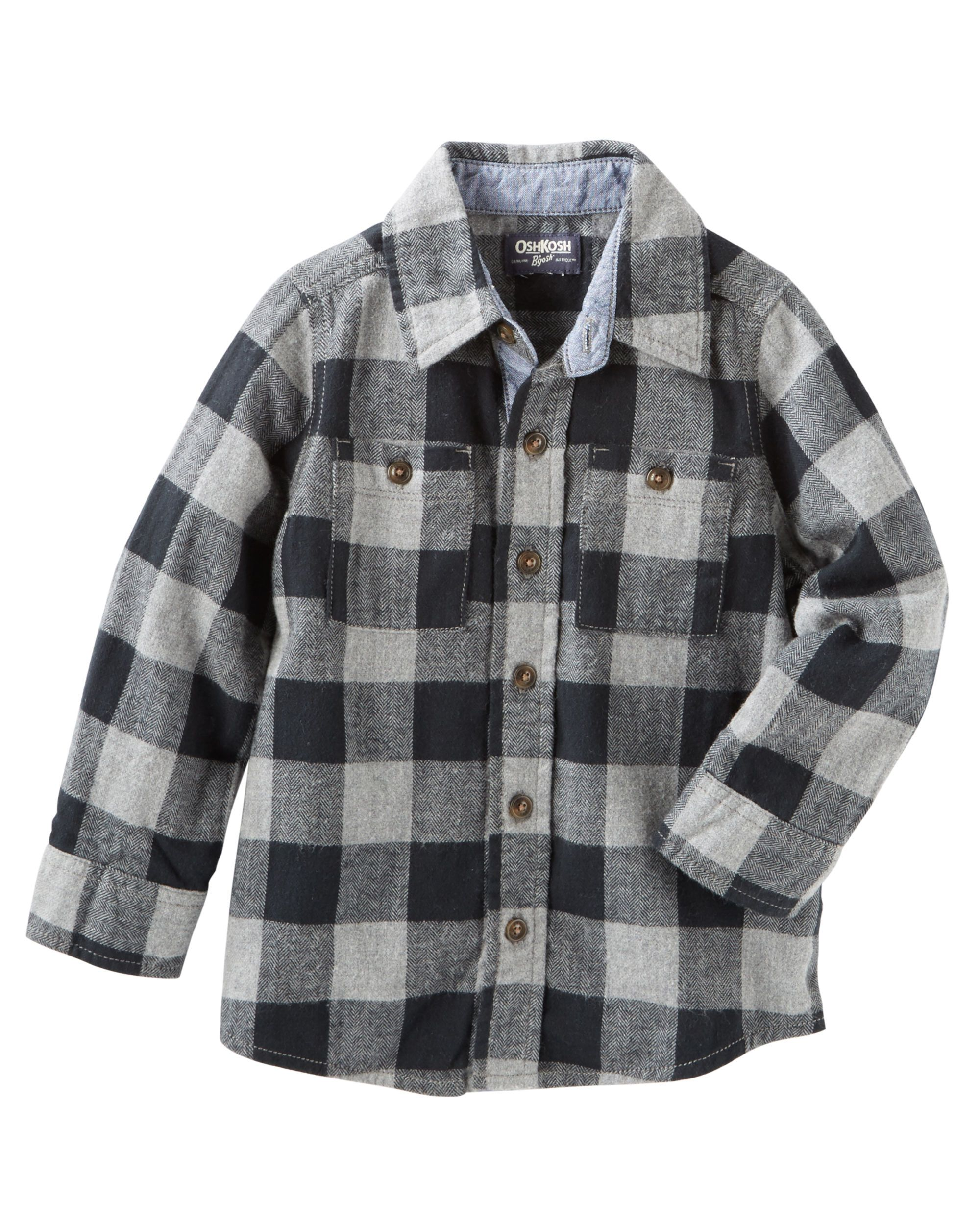 e9327b834 Elevate his tees and sweaters by layering this soft, yarn-dyed plaid  crafted with two pockets for extra style points.