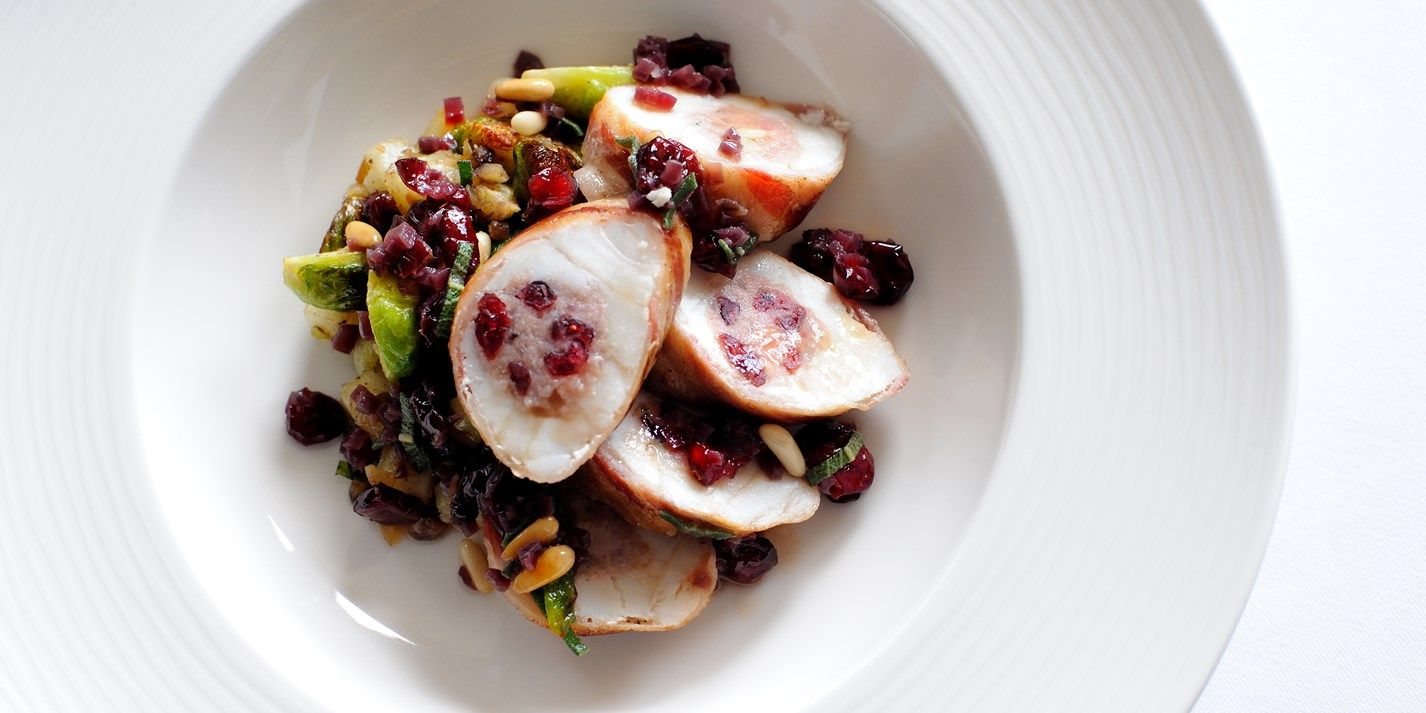 This stuffed monkfish recipe would make a wonderful alternative to the usual Christmas roast. The sage, cranberry and pine nut stuffing adds to the heartiness of this delicious fish