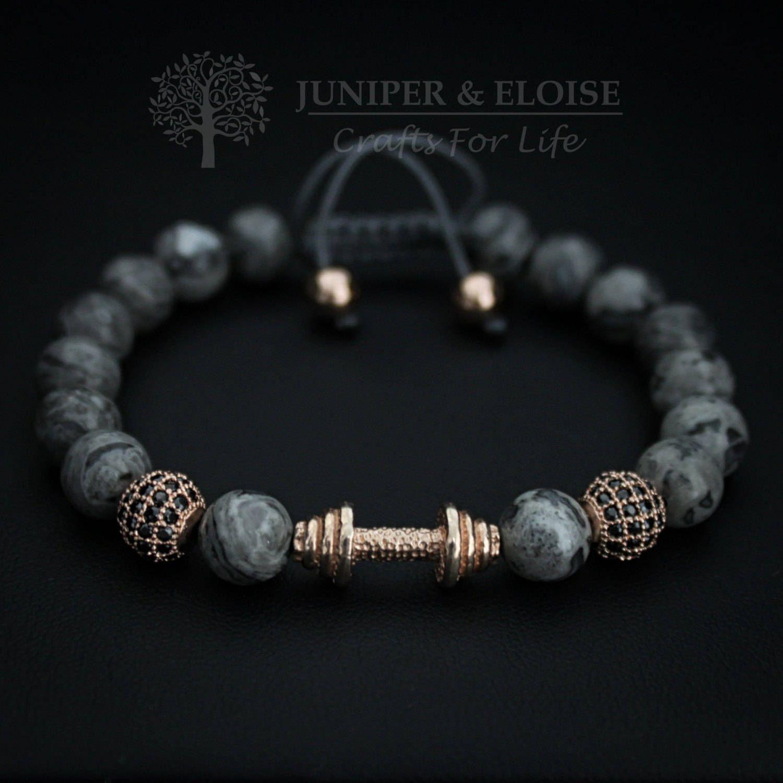 Mens bracelet barbell charm bracelet dumbbell bracelet trendy