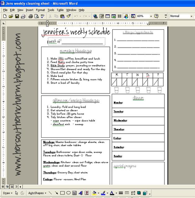 Homemaking Binder, Binder Planning