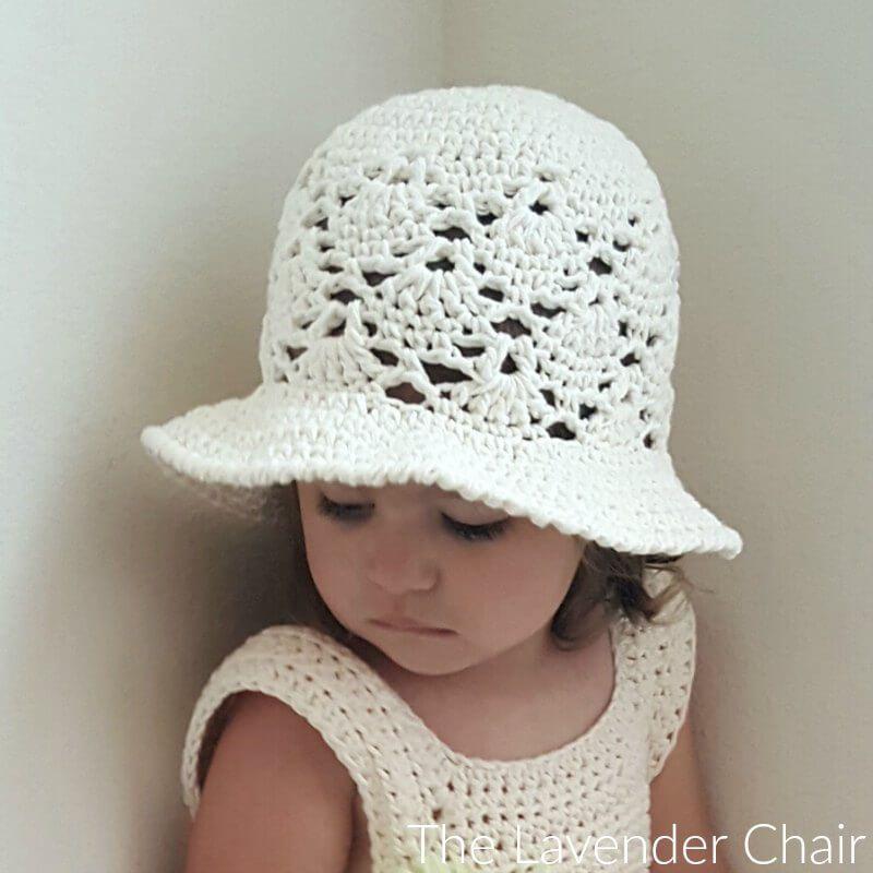 Vintage Sun Hat (Infant - Child) Crochet Pattern | Vestidos para ...