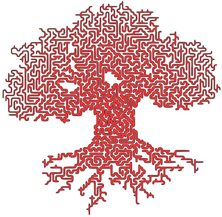 Maze from mesh - Grasshopper   RH-GH Algorithm   Grasshopper
