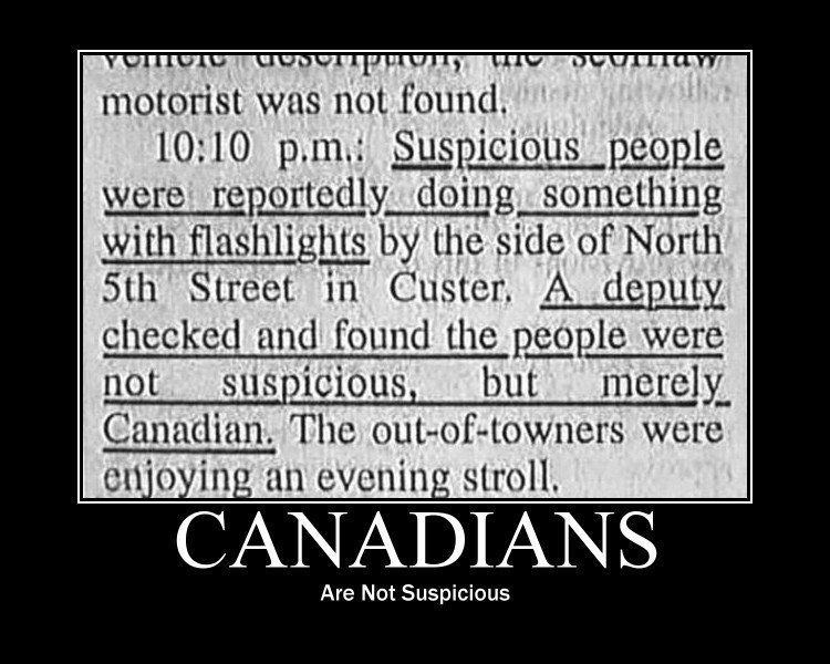 Canadians are not suspicious with images funny