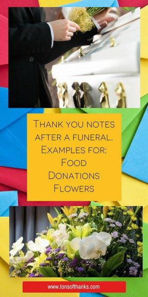 43 Funeral thank you note wording examples bereavement Pinterest