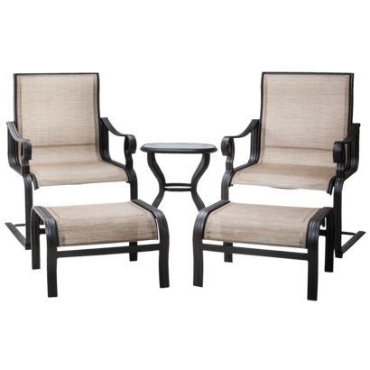 Threshold™ Nokomis 5 Piece Sling Patio Lounge Chat Furniture Set