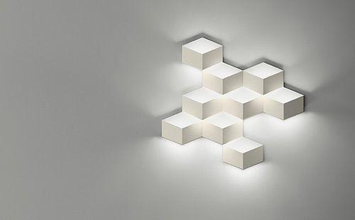 Geometrische Wandbespielung 3d Cube Von Arik Levy Wandleuchte Led Wandlampen Beleuchtung Fur Zuhause