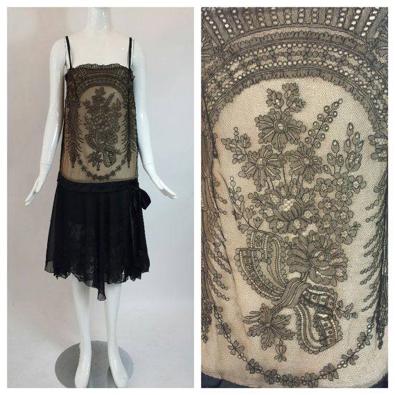 Vintage 1920's dress / flapper dress / 1920s by audreysofnaples