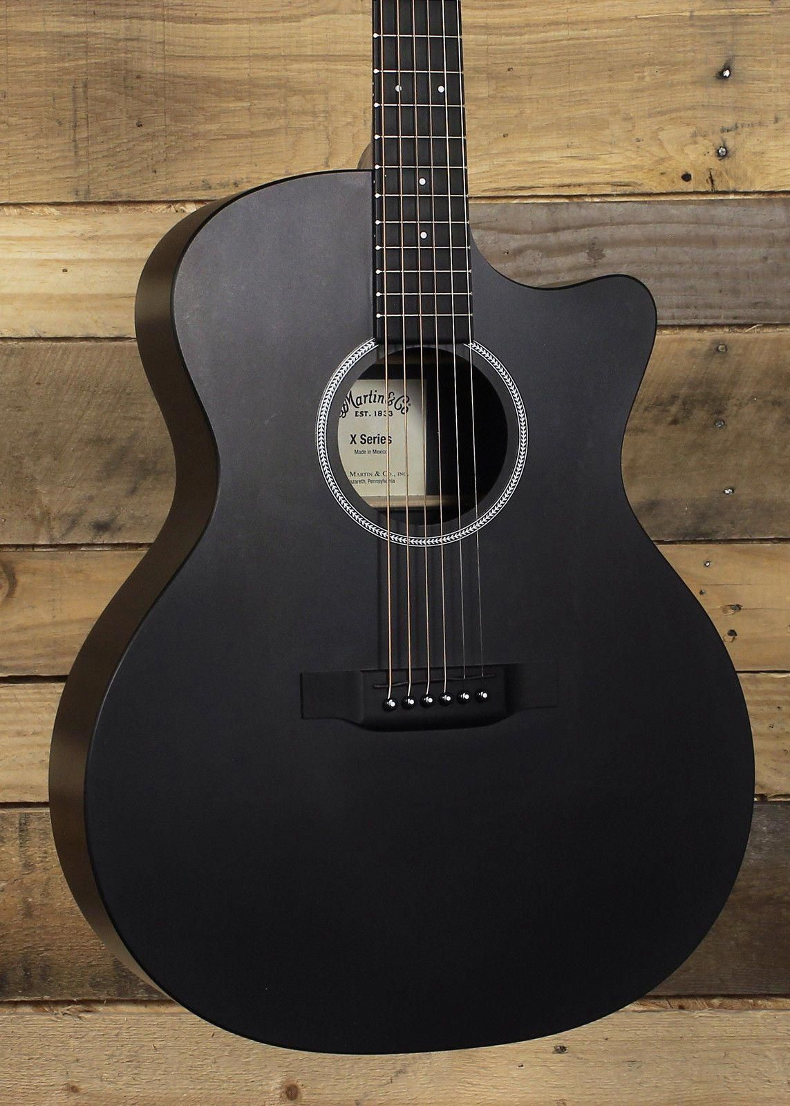 Martin Gpcxae Black Acoustic Guitar Black Acoustic Guitar Music Guitar Acoustic