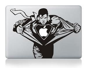 Laptop Sticker Superman Personality Vinyl Decal Skin For New Macbook