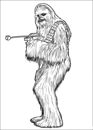 Click To See Printable Version Of Chewbacca With Bowcaster Coloring Page Star Wars Coloring Book Star Wars Drawings Star Wars Coloring Sheet