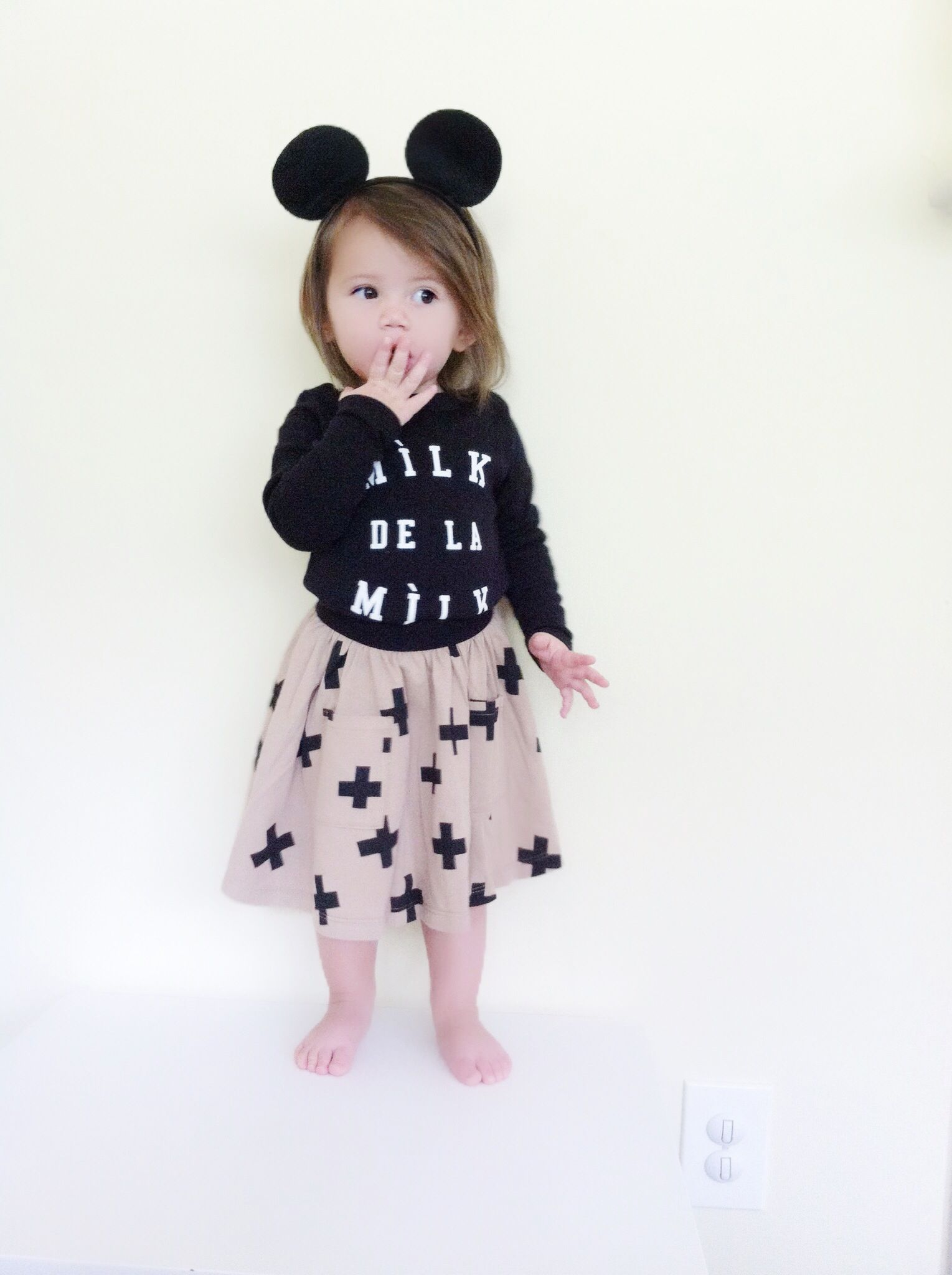 Black milk de la milk shirt girls boys modern trendy chic clothing