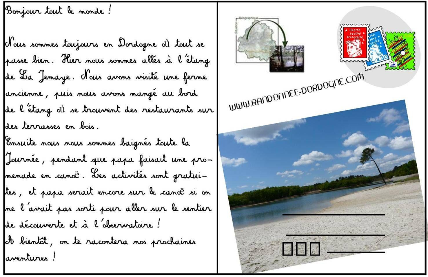 Carte Postale Lajemaye Randonnee Dordogne