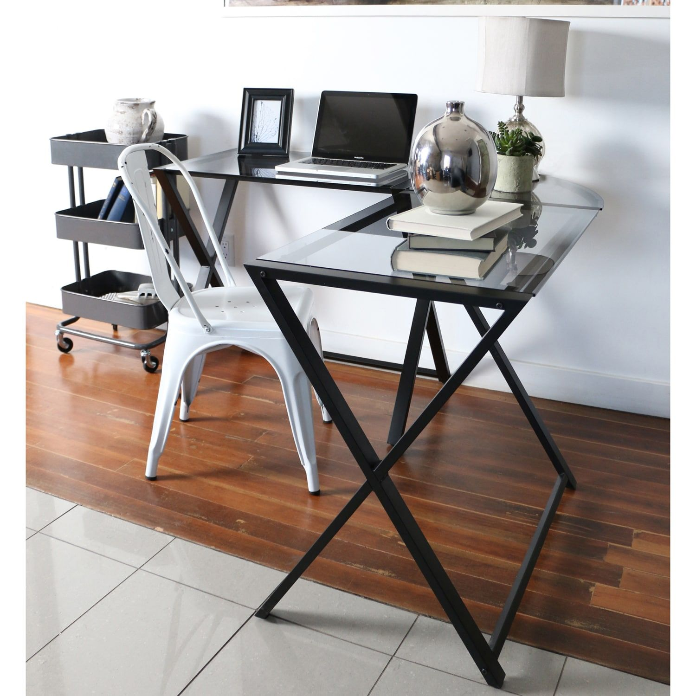 Smoke X Frame Corner Computer Desk