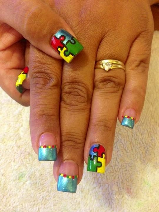 Autism Awareness Nails By The Talented Tonya Strange