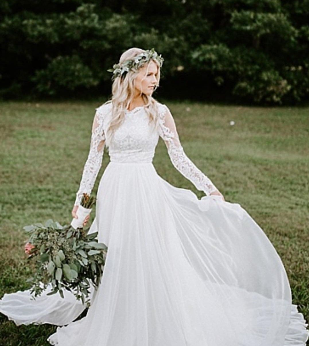 Josie Balka in her wedding dress Duggar wedding, Wedding