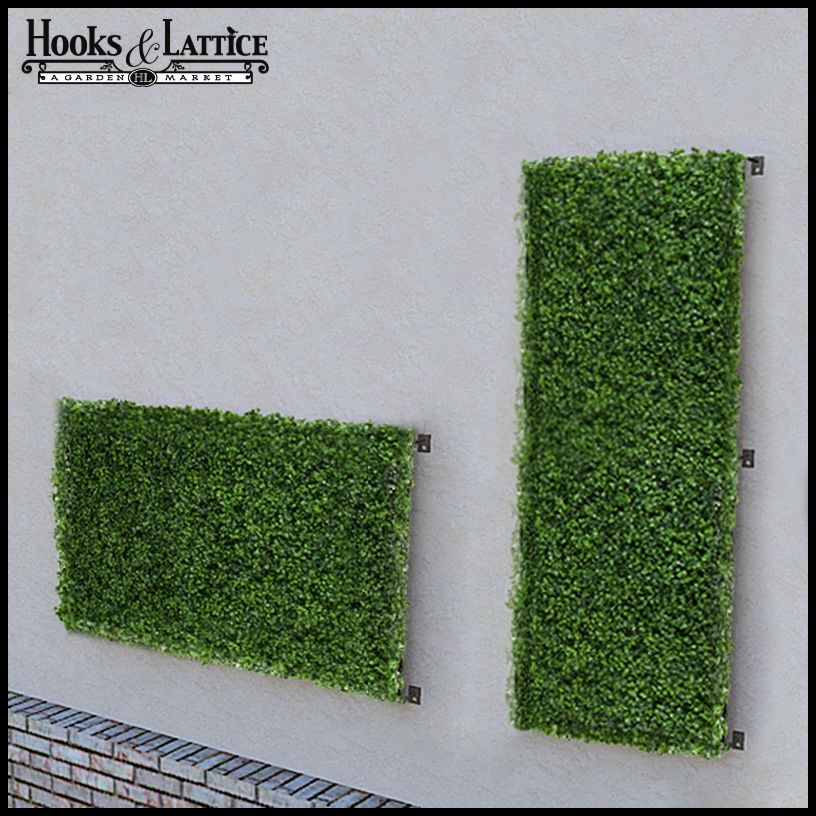 Boxwood Indoor Artificial Living Wall 48in L X 24in H