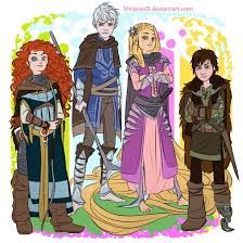 rapunzel and hiccup and merida and jack - Google Search